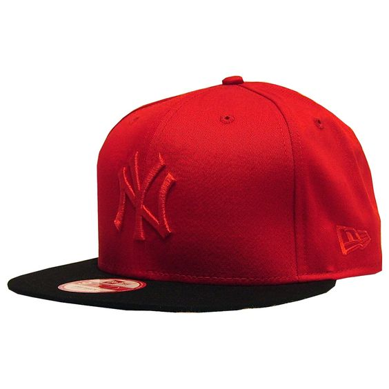 New Era cap poptonal snapback New York scarlet red black 30€ #newera #snapback #caps #hats #casquette #cap #hat #ny #newyork #skateshop