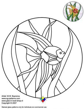 Stained glass fish patterns free online free stained for Stained glass fish patterns