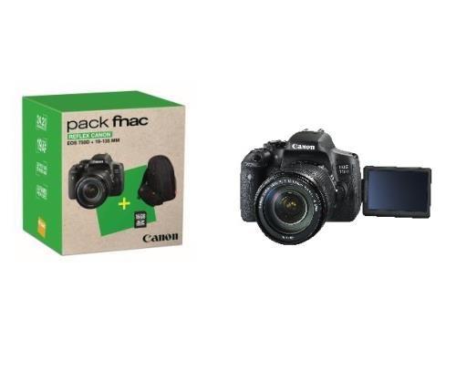pack fnac reflex canon eos 750d noir