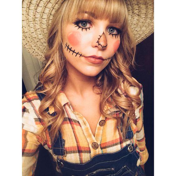 Scarecrow Makeup Scarecrows And Makeup On Pinterest