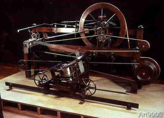 Samuel+Crompton+-+Replica+of+spinning+frame,+by+Samuel+Crompton+(1753-1827),+c.1774-9