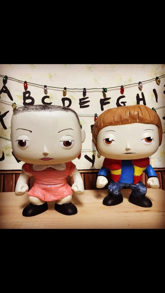 funko pop custom stranger things will and eleven with. Black Bedroom Furniture Sets. Home Design Ideas