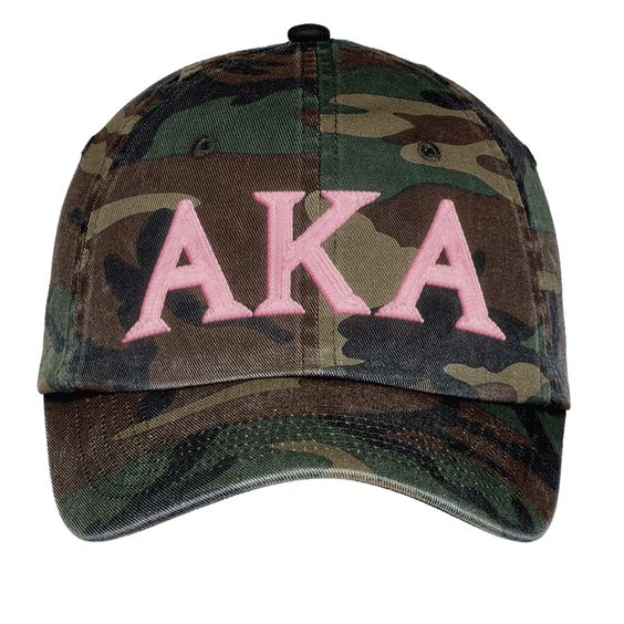 Alpha Kappa Alpha Lettered Camouflage Hat                                                                                                                                                     More