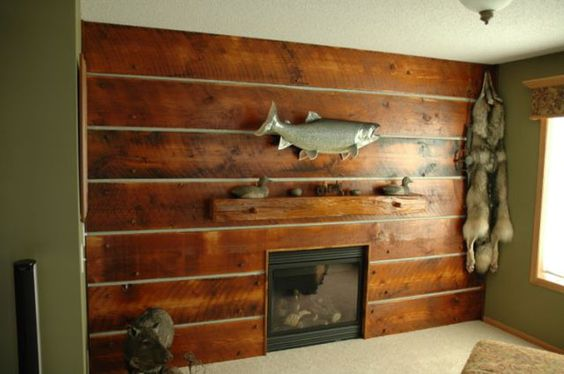 rustic wood wall coverings wall covering 5 ideas for cabin pinterest rustic wood rustic. Black Bedroom Furniture Sets. Home Design Ideas