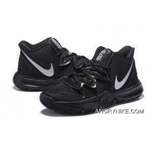 Nike Kyrie 5 Black Metallic Silver Free Shipping Nike Kyrie