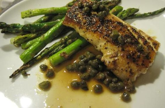Butter asparagus and the o 39 jays on pinterest for Lemon fish sauce recipe