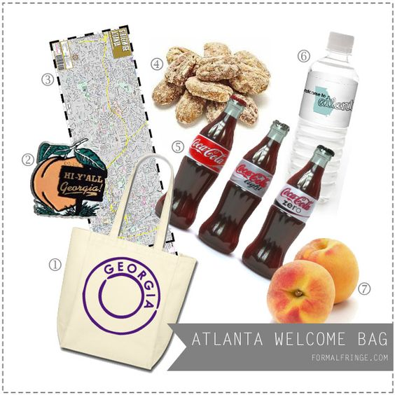 Atlanta Wedding Gift Bag Ideas : Gift bags for those guests coming from out of town. Give them a ...