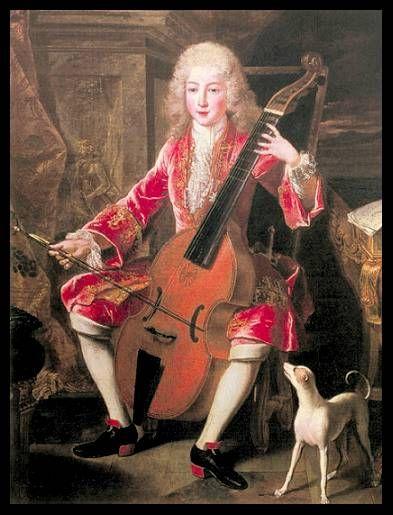 Portrait of Prince Emanuel Franz Joseph, Bayern, 1707.: