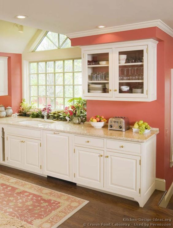Kitchen cabinets traditional white 127 cp030c victorian for Traditional victorian kitchen designs