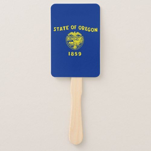 Set Of Hand Fan With Flag Of Oregon State Usa Hand Fan Party Funny Birthday Party Supplies