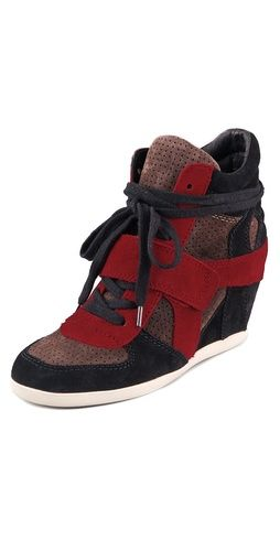 Ash Bowie Suede Wedge Sneakers...i just love them...