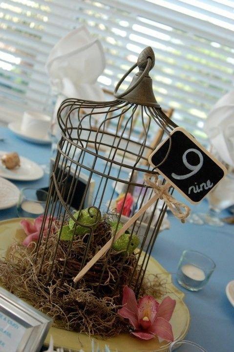 Mini birdcage centerpieces - photo#12