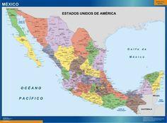 Mapa de México con nombres