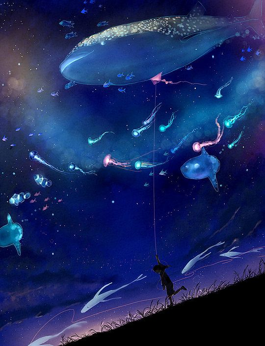 Beautiful Illustrations by Megatruh because I believe the sea and the stars are connected