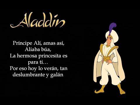 Aladdín Príncipe Ali Latino Letra Youtube Walt Disney Records Disney Music Aladdin
