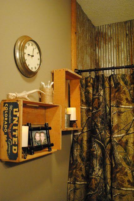 Realtree AP Camo Shower Curtain - a rustic feel.