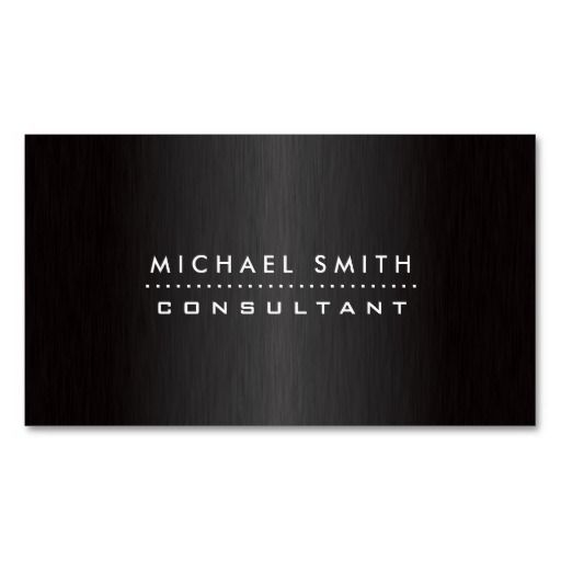 Professional Elegant Modern Black  Brushed Metal Business Card Template. I love this design! It is available for customization or ready to buy as is. All you need is to add your business info to this template then place the order. It will ship within 24 hours. Just click the image to make your own!
