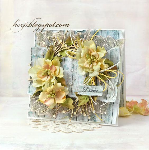 Podziekowania Klaudia Kszp Flower Cards Greeting Cards Handmade Floral Cards