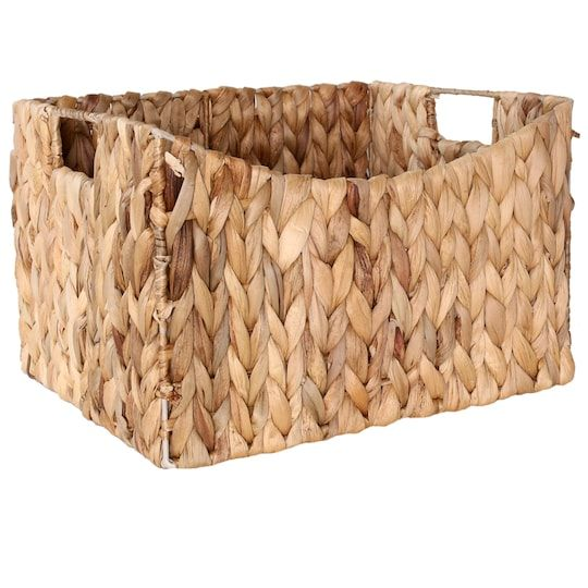 12 5 Water Hyacinth Rectangle Shelf Storage Basket By Ashland