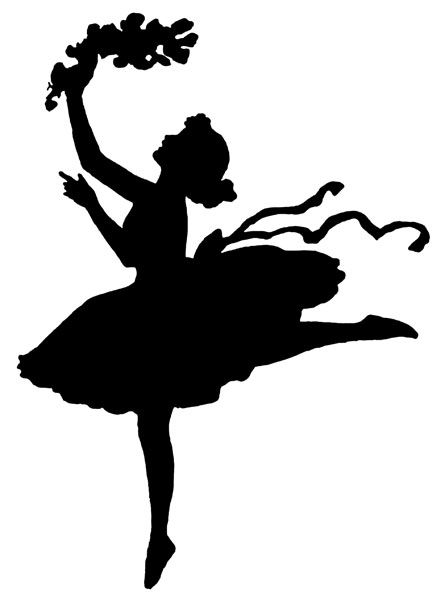 dancing girl silhouette - photo #7