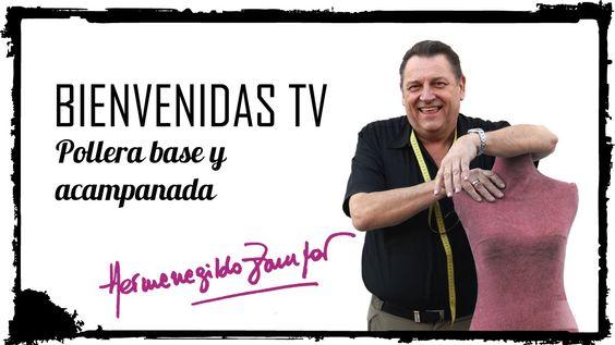 Hermenegildo Zampar - Bienvenidas TV -  Pollera Base y Acampanadas