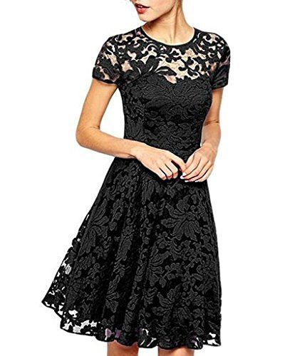 OYMMENEY Damen Kleid mit Spitze Sommerkleid shirt Tunika tunikakleid Bluse Oberteil Damenbluse Kleider Top Kurz Knielang Frühling Herbst, http://www.amazon.de/dp/B01CCMK2QU/ref=cm_sw_r_pi_awdl_x_KLc1xbX1WZAW4