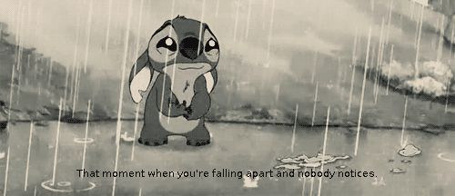 When you're falling apart......                               This might be the saddest thing I have ever seen...