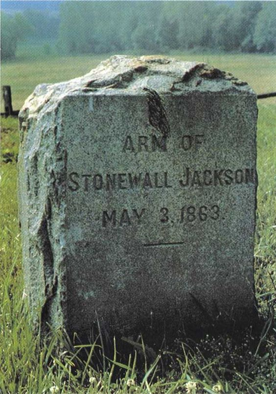 Tombstone for Stonewall Jackson's left arm. Jackson was ...