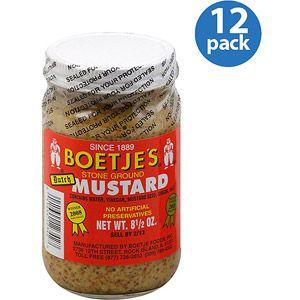 Boetje's Stone-Ground Dutch Mustard, 8.5 oz, (Pack of 12)