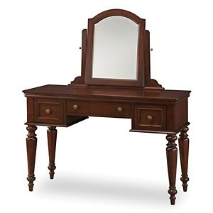 My Ultimate Makeup Station: Home Styles Lafayette Cherry Vanity Table at HSN.com. I WILL GET THIS FOR MY BATHROOM!!!!