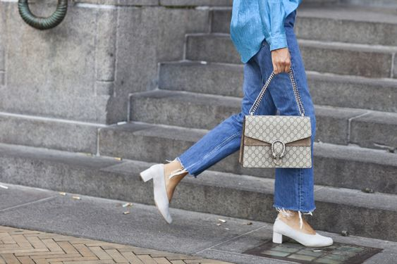 The Glove Heel- ripped +frayed jeans + denim tuxedo + canadian tux + street style:
