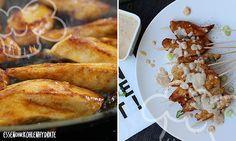 Hähnchen-Spieße mit Erdnuss-Kokos-Dip