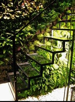 Cool stair treatment in the garden