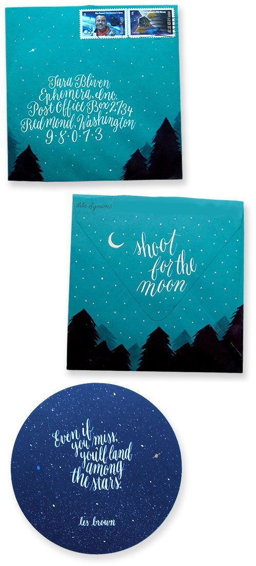 beautiful lettering and overall envelope design