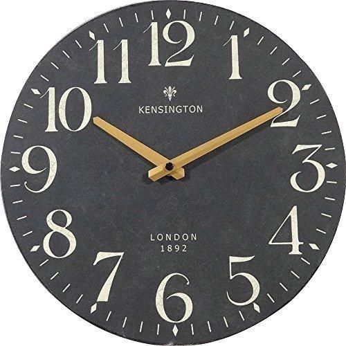 Nikky Home British Style Silent Quartz Analog Round Wall Clock 12 X 12 Black Black Wall Clock Wall Clock Silent Wall Clock