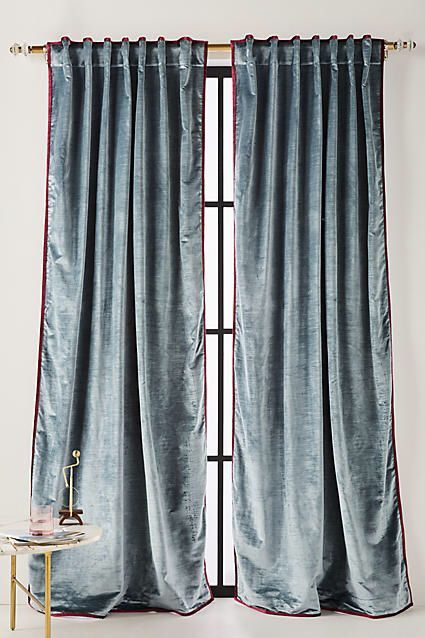 Anthropologie Petra Velvet Curtain