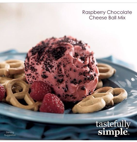 Tastefully Simple Fall-Winter 2014 Raspberry Chocolate Cheese Ball Mix