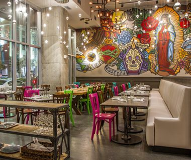 Johnny Sánchez, New Orleans The latest addition to John Besh's empire, a collaboration with Aarón Sánchez, is less southern, more South of the Border, from the tattoo-style murals, featuring the Lady of Guadalupe and two Day of the Dead motifs, to the tequila- and taco-centric creations. So for Thanksgiving, expect a modern Mexican riff on holiday favorites. On the still-evolving à la carte menu are slow-cooked turkey leg enchiladas with crema, herbs, and pickled chiles; brussels sprouts ...