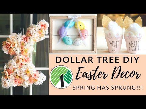 101 Dollar Tree Diy Easter Spring Decor Youtube Spring Easter Decor Diy Easter Decorations Easter Diy