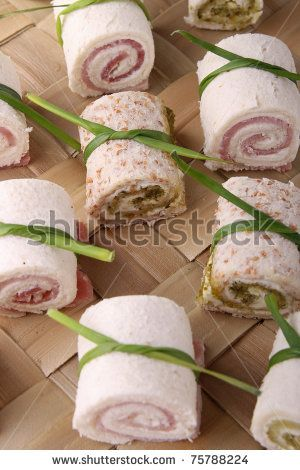 Delicious ham and cheese canap s recipe a well for Canape insurance