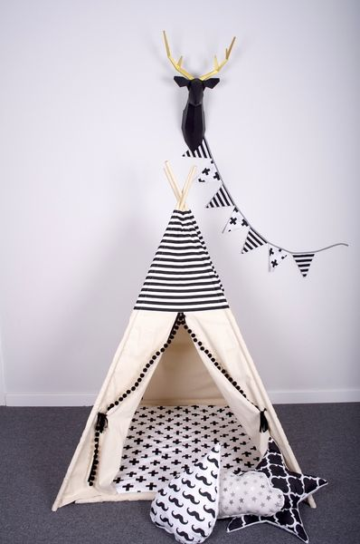 minky nestchen hund tipis zelt und schwarz. Black Bedroom Furniture Sets. Home Design Ideas
