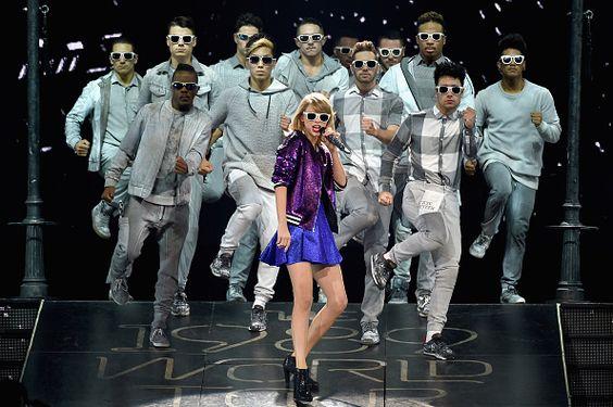 Singer/songwriter Taylor Swift performs onstage during The 1989 World Tour live in Nashville at Bridgestone Arena at Bridgestone Arena on September...