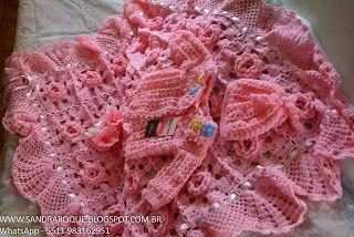 Sandra Roque Artesanatos: saida de maternidade rosa