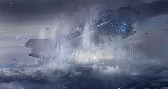 Concept ships by Eduardo Peña
