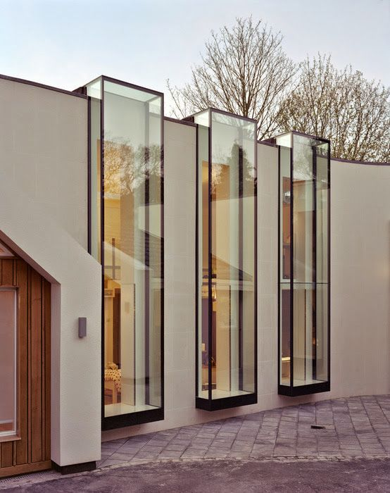 Large Double Glazed Windows Linkside Residence By Coupdeville - Building architectural windows