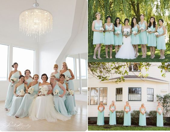 Donna Morgan bridesmaid dresses / Beautiful Beach Glass