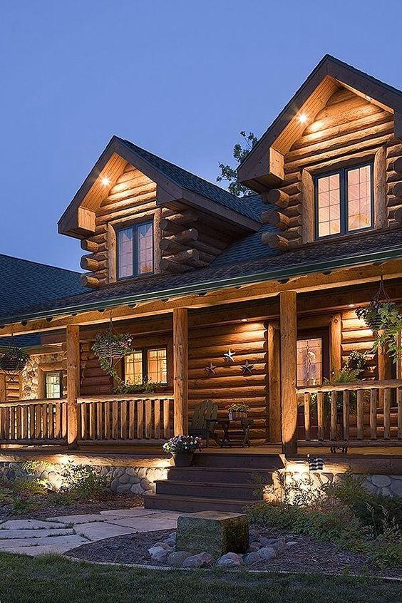 Log cabin dream homes pinterest home exteriors jack for Log cabin dream homes