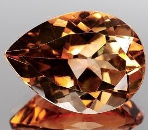 IMPERIAL TOPAZ 12.75 CARAT WEIGHT PEAR CUT GEM SPECTACULAR HUGE UNTREATED NATURAL IMPERIAL TOPAZ GEM! LOVLEY BI - COLORED CHAMPAGNE TO ROOTBEER COLORED PEAR CUT GEM THAT IS SIMPLY GORGEOUS! 12.75 CARAT WEIGHT ROOTBEER BROWN IMPERIAL TOPAZ!! 18 MM X 13 MM X 8.2 MM DEPTH THIS DEPTH WILL REQUIRE A LARGE - DEEP CASTING OR TALL GALLERY