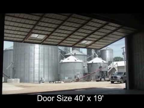Higher Power Hydraulic Door Hydraulic Hangar Door Size 40 X 19 Youtube
