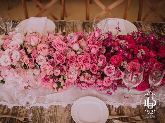 Centro de mesa pink